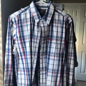 Men's casual button down shirt.